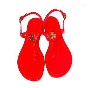 Patent Red Tory Burch sandals